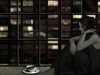 Woman Coffee Window Evening Sad  - Willgard / Pixabay